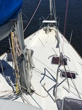 Foredeck from top of coachroof