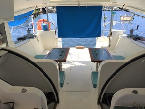 Access to aft cabins and cockpit looking aft
