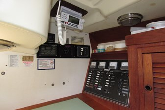 Electrical panel and electronics at nav station