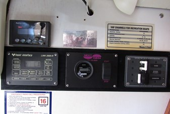 Gauges and monitors at nav station