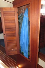 Hanging locker opposite galley