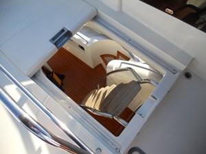 Carpe Diem 53 54_Aft COckpit Ladder to Flybridge