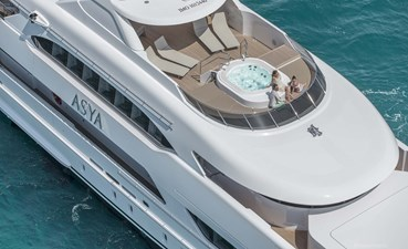 Relaxing aboard luxury superyacht