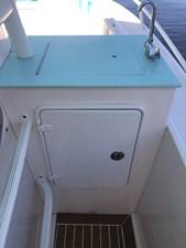 Custom stbd side cabinet