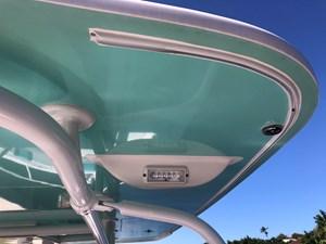 Molded in rail for full boat cover