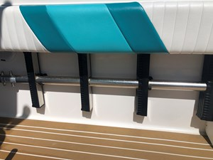 Stowed 4 step Armstrong swim ladder
