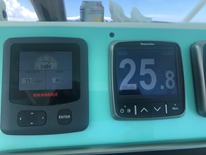 3400 RPM 80% load 25.8 knots (fast cruise)