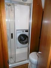 Separate shower with door