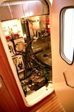 Engine room access with door