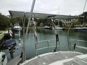 Aft deck with designer custom arch