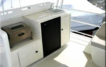Flybridge Grill and Refrigerator