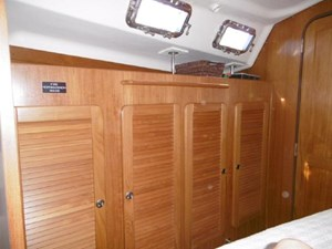 An abundance of storage in the guest cabin