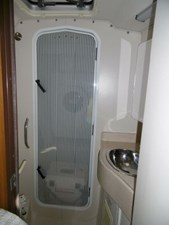 Forward head with separate enclosed shower