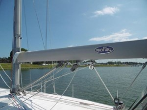 Upgraded ProFurl inboom mainsail for better sail shape