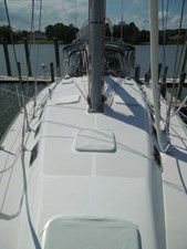 Catalina 470 deck with hatch protective covers