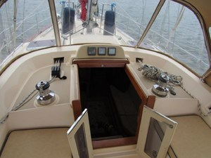 Companionway with Cafe Doors