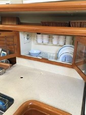 Drying/storage cupboard for dishes -open
