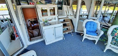 Aft Deck Full Enclosure with Solid Doors