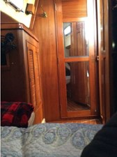 Mirrored door from aft stateroom to aft head