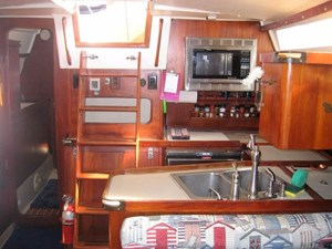 Saloon Looking Aft to Companionway