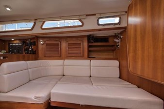Port settee converts to a double berth