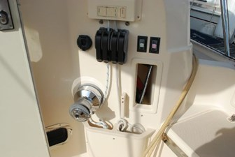 Sail Controls in Cockpit