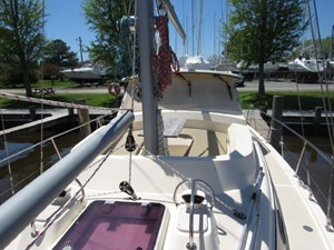 Second Wind 50 Deck Looking Aft