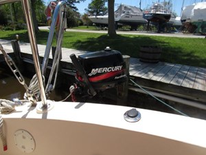 Second Wind 57 Outboard and Bracket