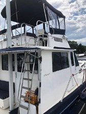 Ladder to Flybridge & Wide Side Decks