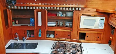 Galley Cabinets Stbd Open