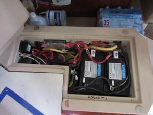 Battery storage under nav seat