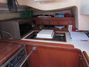 Galley looking aft