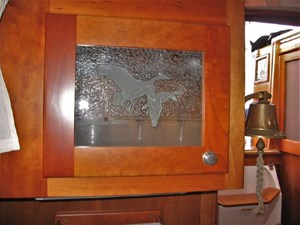 Etched Glass Galley Cabinet Door