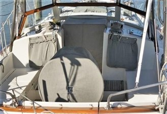 Looking at Companionway Under cover