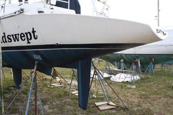 Port Aft Quarter. This Professionally Fabricated Transom Extension Adds an incredible amount of space for dinghy storage and all your recreational endeavors.