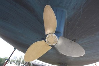 3 blade Max Prop waiting for a new zinc. These props are easily maintained and the service at Max Prop is outstanding.
