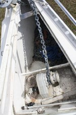 Plenty of chain and rode in this large anchor locker.
