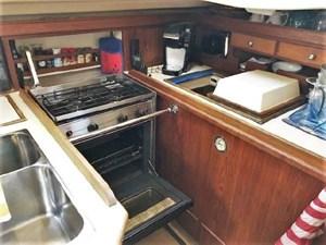 Galley Oven & Refrig/Freezer Opened