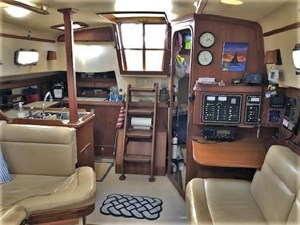 Looking Aft to Companionway