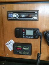 Nav Station VHF w/ remote, Stereo and Inverter Panel
