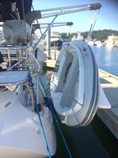 CHEEKY MONKEY 22 10' Walker Bay w/ Tubes on Davits and Torqeedo Outboard