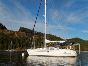 CHEEKY MONKEY 34 At Anchor