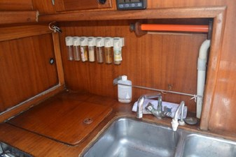 Galley with spice rack