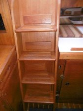 Close up of companionway stairs