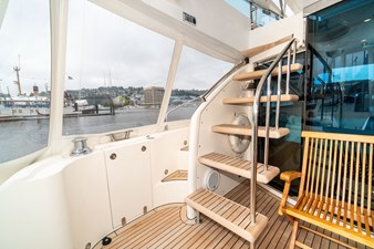 Aft Deck Stairs to Flybridge