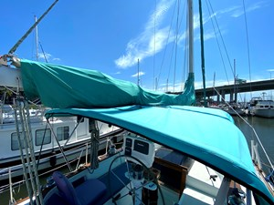 canvas bimini and mainsail cover