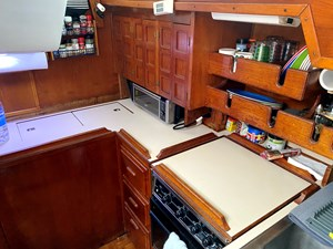 galley counters and storage