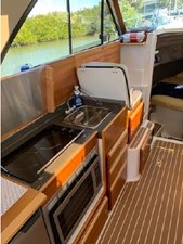 Galley/port-side seating