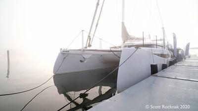 HH Catamarans HH55 35 mist rolls in