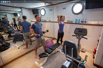 141' Expedition Yacht MARCATO gym